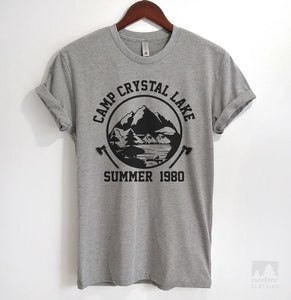 Camp Crystal Lake Heather Gray Unisex T-shirt