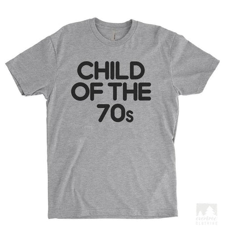 Child Of The 70s Heather Gray Unisex T-shirt