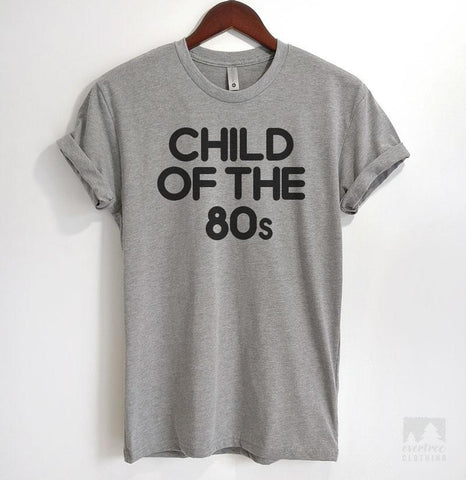 Child Of The 80s Heather Gray Unisex T-shirt