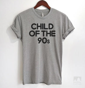 Child Of The 90s Heather Gray Unisex T-shirt