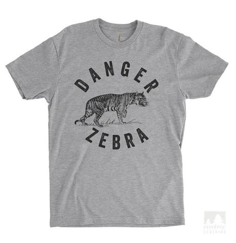 Danger Zebra Heather Gray Unisex T-shirt