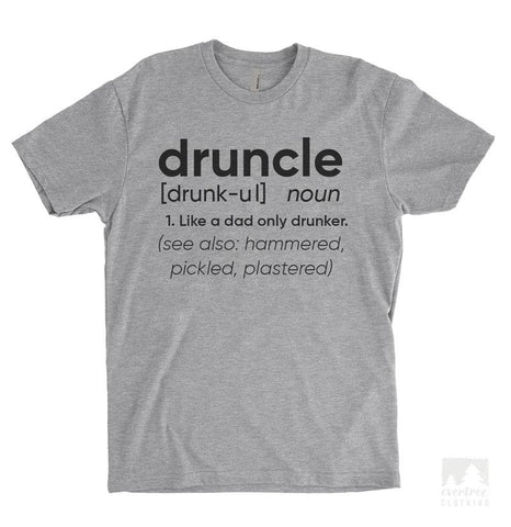 Druncle Definition Heather Gray Unisex T-shirt