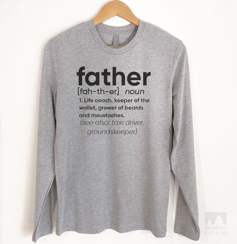 Father Definition Long Sleeve T-shirt