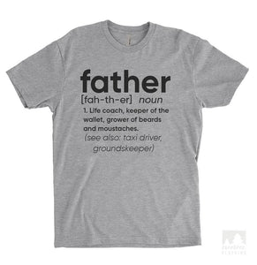 Father Definition Heather Gray Unisex T-shirt