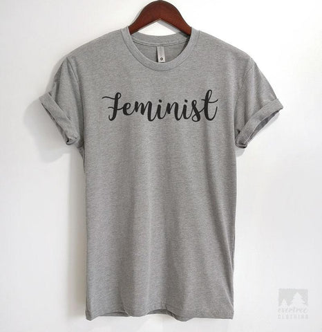 Feminist Heather Gray Unisex T-shirt