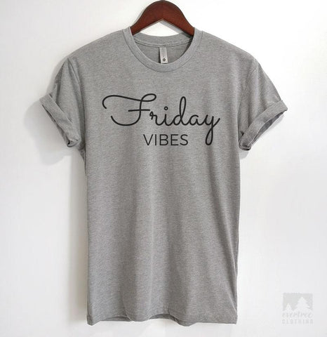 Friday Vibes Heather Gray Unisex T-shirt