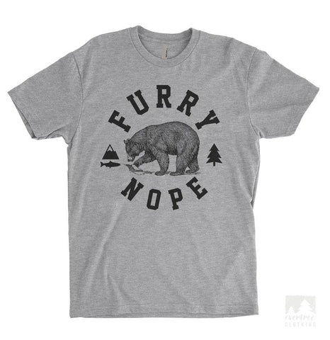 Furry Nope Heather Gray Unisex T-shirt