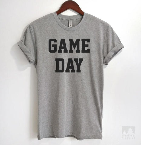 Game Day Heather Gray Unisex T-shirt