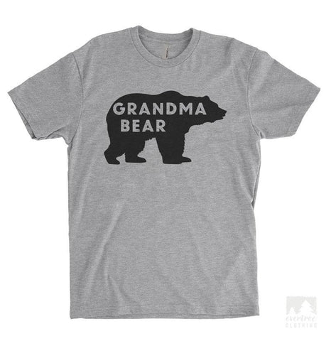 Grandma Bear Heather Gray Unisex T-shirt