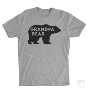 Grandpa Bear Heather Gray Unisex T-shirt