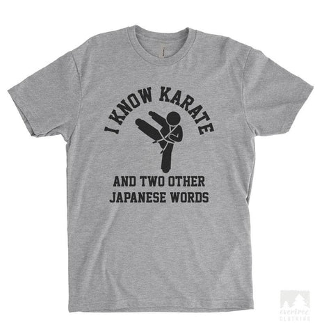 I Know Karate And Two Other Japanese Words Heather Gray Unisex T-shirt