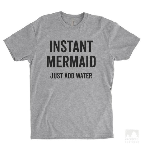 Instant Mermaid Heather Gray Unisex T-shirt