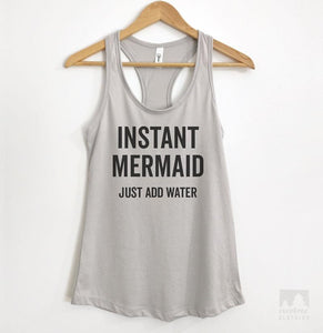 Instant Mermaid Silver Gray Tank Top