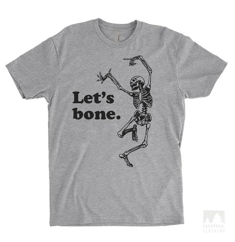 Let's Bone Heather Gray Unisex T-shirt