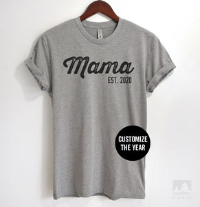 Mama Est. 2019 (Customize Any Year) Heather Gray Unisex T-shirt
