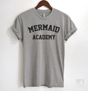Mermaid Academy Heather Gray Unisex T-shirt