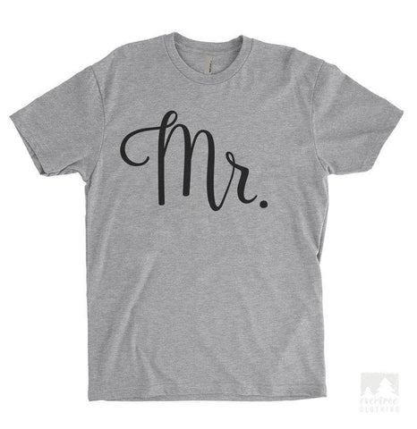 Mr. Heather Gray Unisex T-shirt