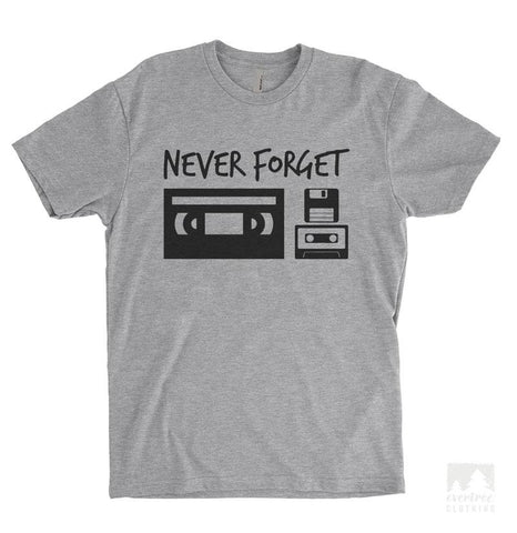 Never Forget Heather Gray Unisex T-shirt