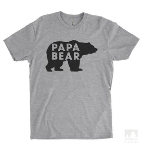 Papa Bear Heather Gray Unisex T-shirt