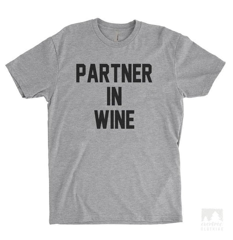 Partner In Wine Heather Gray Unisex T-shirt