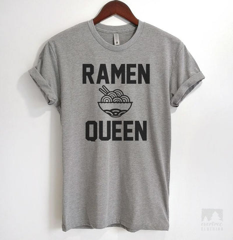 Ramen Queen Heather Gray Unisex T-shirt