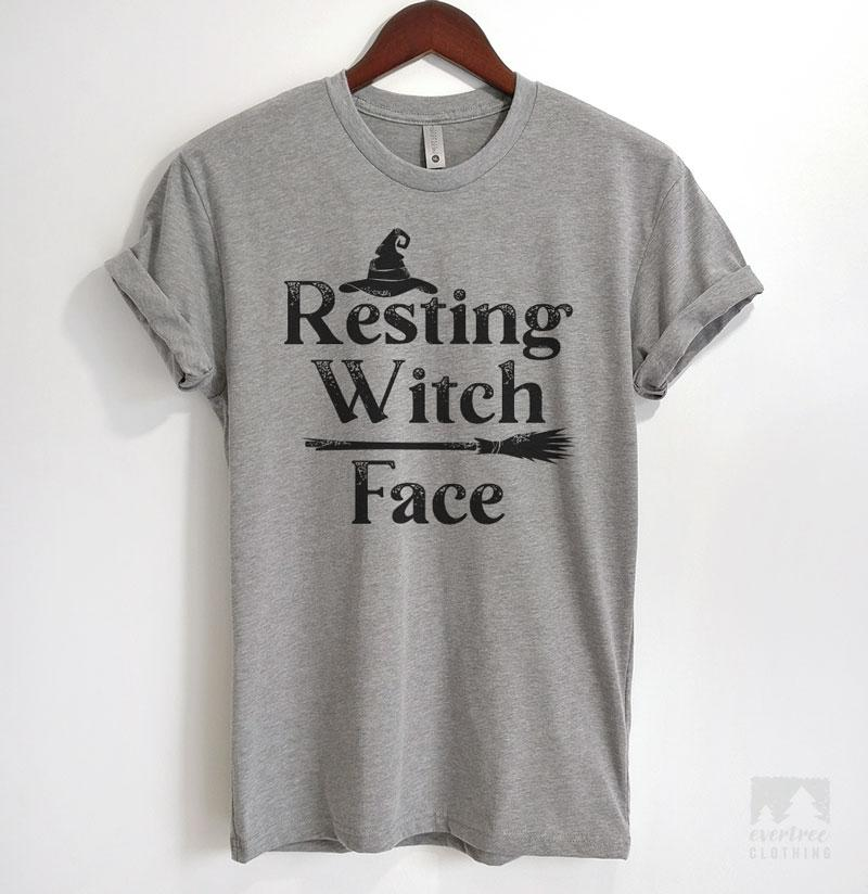 Resting Witch Face Heather Gray Unisex T-shirt