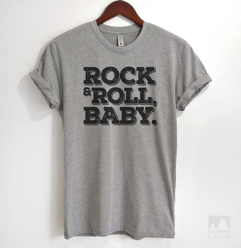 Rock & Roll, Baby Heather Gray Unisex T-shirt