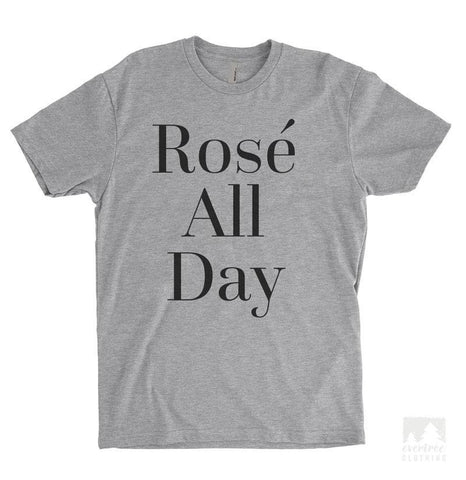 Rose All Day Heather Gray Unisex T-shirt