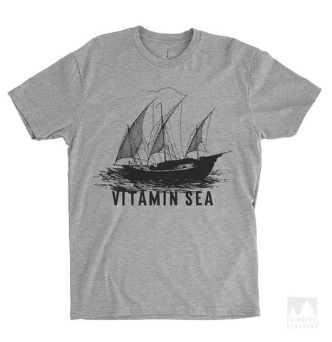 Sailing Vitamin Sea Heather Gray Unisex T-shirt