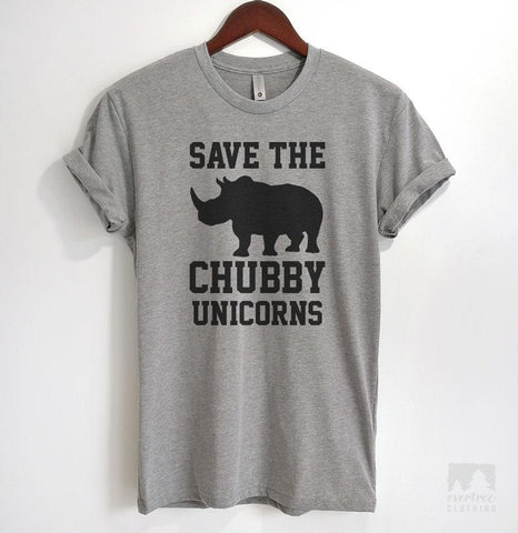 Save The Chubby Unicorns Heather Gray Unisex T-shirt