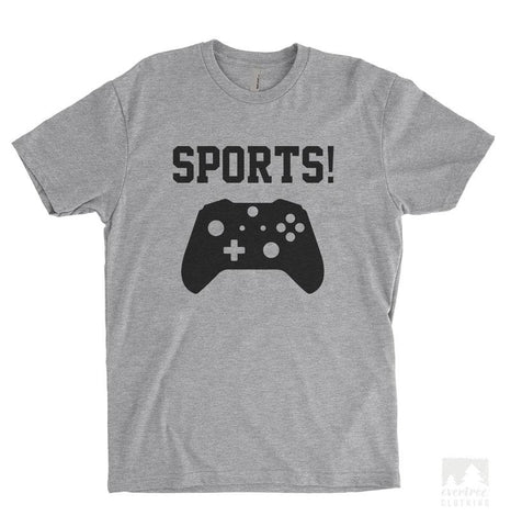 Sports! Game Controller Heather Gray Unisex T-shirt