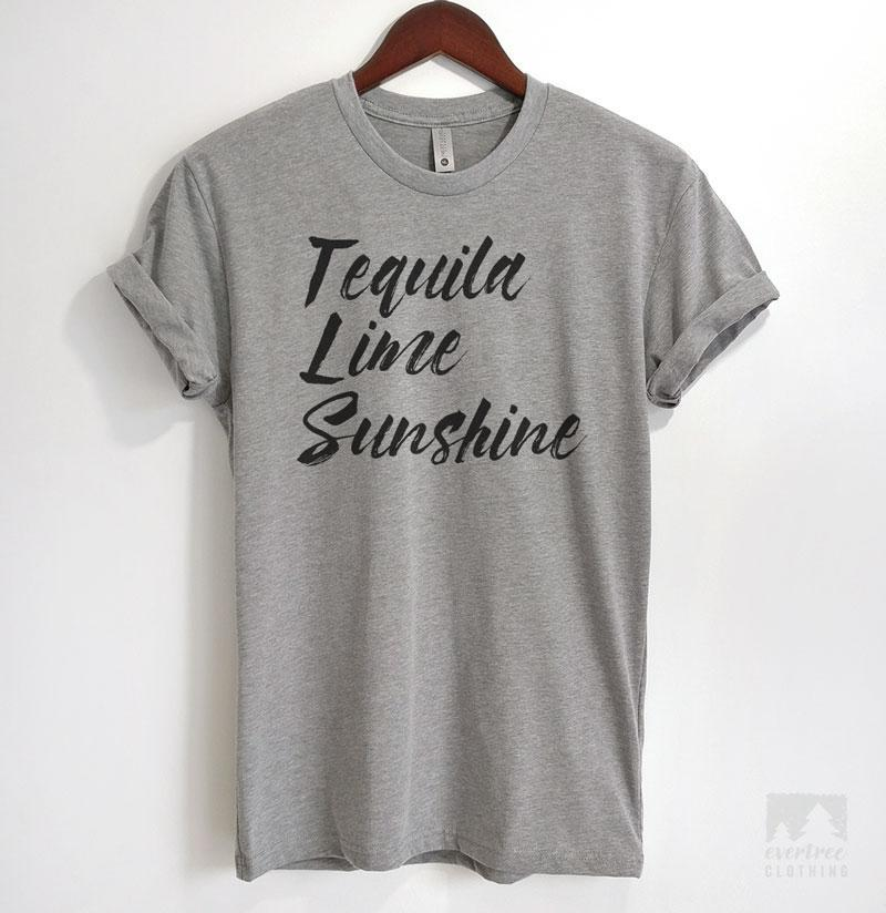 Tequila Lime Sunshine Heather Gray Unisex T-shirt
