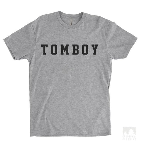 Tomboy Heather Gray Unisex T-shirt