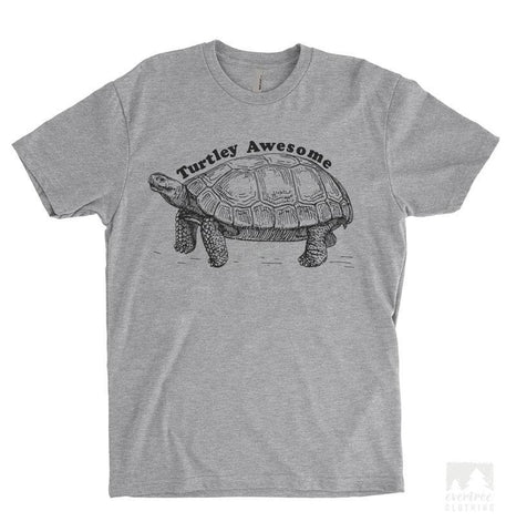 Turtley Awesome Heather Gray Unisex T-shirt
