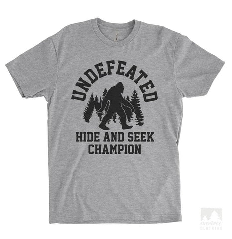 Undefeated Hide and Seek Champion Heather Gray Unisex T-shirt