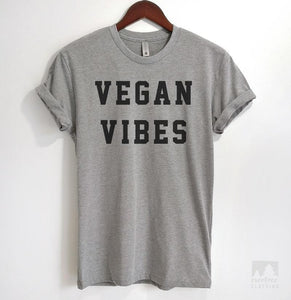 Vegan Vibes Heather Gray Unisex T-shirt