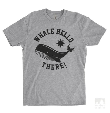 Whale Hello There! Heather Gray Unisex T-shirt