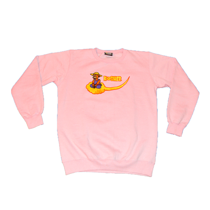 EMBROIDERED CLOUD NINE NIMBUS SWEATSHIRT (PINK)