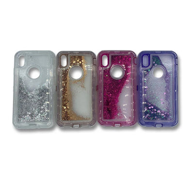 Transparent Floating Glitter with Design Heavy Duty Case Compatible with Apple IPHONE 11 PRO MAX