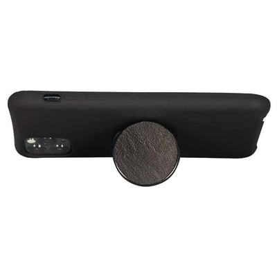COOLGRIPS GENUINE BLACK LEATHER PHONE GRIP AND STAND