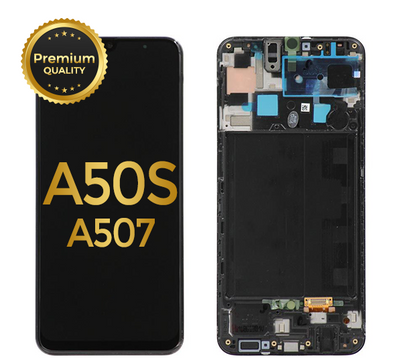 OLED ASSEMBLY WITH FRAME COMPATIBLE FOR SAMSUNG GALAXY A50S (A507 / 2019) (Black)