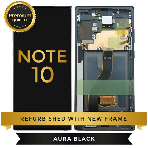 Refurbished Samsung Galaxy Note 10 LCD Digitizer display Assembly with front housing, Black
