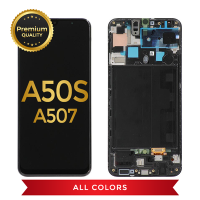 Samsung Galaxy A50s (A507/2019) Replacement Incell LCD Assembly With Frame (Black)