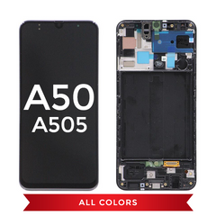 Samsung Galaxy A50 (2019) Replacement Incell LCD Assembly With Frame (Black)