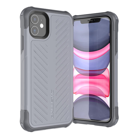 BALLISTIC TOUGH JACKET SERIES CASE FOR APPLE IPHONE 11 - GRAY