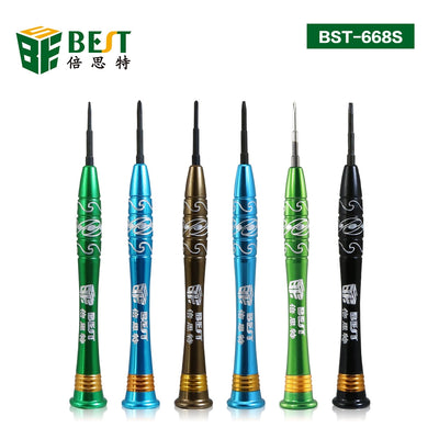 BEST-668S Precision 5 point star pentalobe screwdriver for iphone1/7/7P/8/8P/X with magnetic
