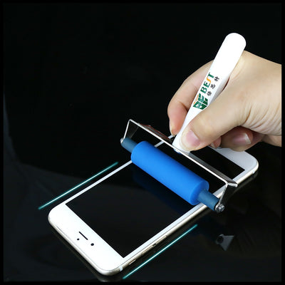 BEST-S6 LCD Laminating OCA Anti-static ABS Handle Manual Silk Screen Stretcher Cell Phone Soft Silicone Screen Roller