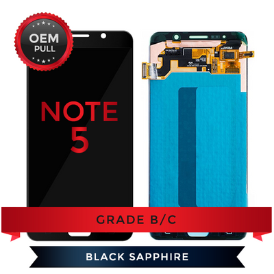 Samsung Galaxy Note 5 LCD Digitizer Assembly With Frame OEM Pulls Grade B/C (Black/Blue)