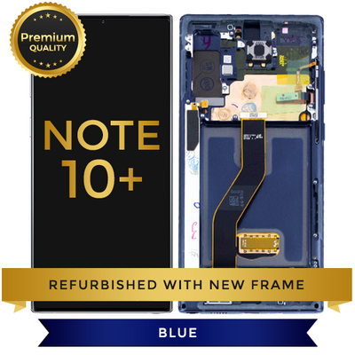 Replacement LCD Digitizer Assembly With Frame, Blue For Samsung Galaxy Note 10 Plus