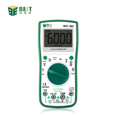 BST-58X Automatic Digital Multimeter Intelligent 6000 Counts AC/DC Voltage Current Test Tool